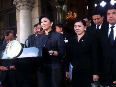 PM Yingluck Shinawatra opts to go ahead with the amnesty bill