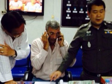 Georges C. Sirre, 56, after his arrest on Phuket this week