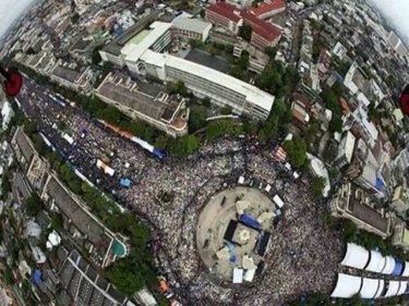 The protest against Thailand's government overflows in Bangkok on Sunday