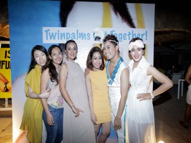 Twinpalms Phuket staff celebrate at their annual party last week, first time at the new Bimi Beach Club at Surin (Twinpalms is a Phuketwan sponsor)