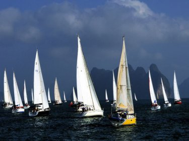 The Bay Regatta takes in Phi Phi this year for the first time