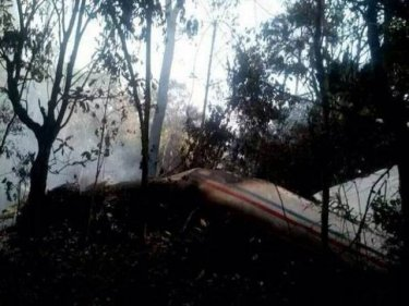 The aircraft crashed into trees in Laos, killing all on board