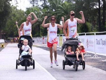 Some participants in the Laguna legs and lungs day find it east to compete
