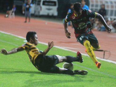 Phuket fought valiantly but fell at the 68th minute in the Toyota League