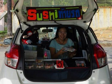 A business opens in the cleared car park at Phuket's Surin. There is no slowing the holiday island's beachfront entrepreneurs