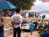 Car Swept Towards Sea as Patong's Flood Tide Grows Higher