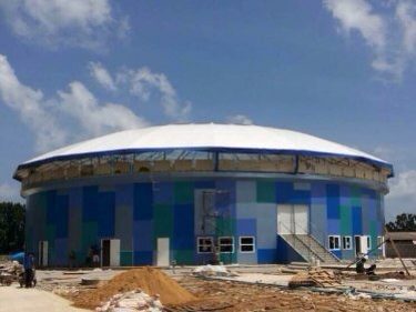 The dolphinarium under construction in Phuket's Chalong district