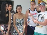 Ladyboys Replay Drunken Spree in Cuffs
