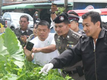 Phuket police find a murder victim dead in a Phuket veggie patch