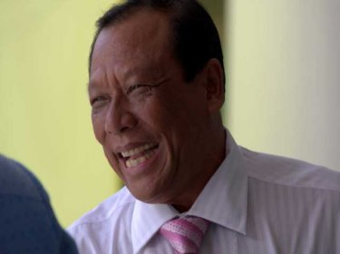 Powerful politician Pian Keesin, cheerful after a reelection as Mayor of Patong