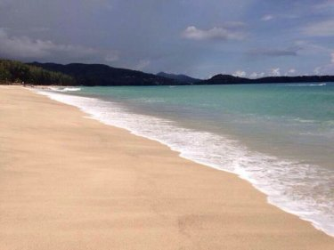 The freshly cleared beaches on Phuket are all ready and waiting
