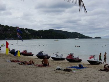 Machines take over the beach: Patong last week, but not this week