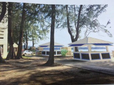An artist's impression of how the Phuket shorefront kiosks might look