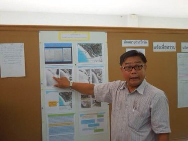 Details of the Phuket parkland encroachment are highlighted yesterday
