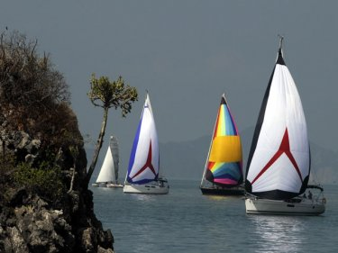 Meeting friends in unexpected places is the charm of the Bay Regatta