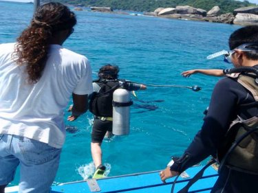 Diving in the Similans off the Andaman coast, where beauty abounds