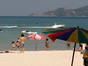 The jet-ski that hit the swimmer was hired from Patong beach