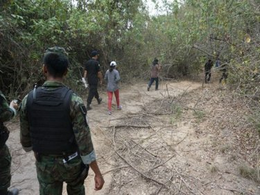 Coastal land has been cleared of mangroves in Phuket's east