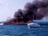 Tourist Ferry Destroyed in Blaze at Sea