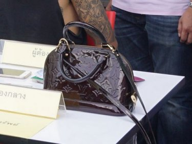 No judges of handbags: thieves discarded a Louis Vuitton valued at 80,000 baht