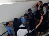 Hair-Raising Aussie Escape from Grip of  Phuket Airport Escalator