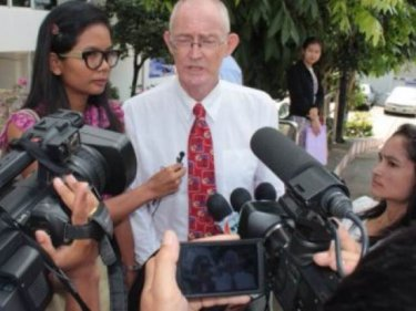 Chutima and Morison on the day their Phuket trial began last year