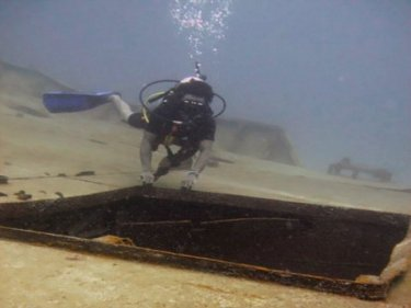 The wreck of a sunken ship is being turned into a coral reef off Phuket