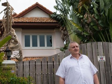 Ian Rance outside the Phuket property he once owned