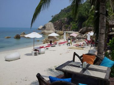Lamai beach on Samui, where a woman was killed by a box jellyfish