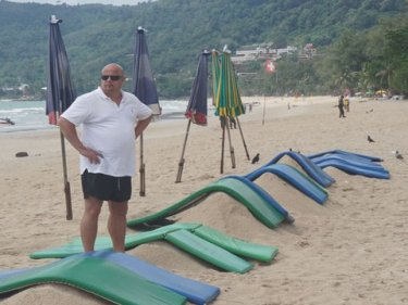 Rubber mats are all tourists can expect these days at Patong beach