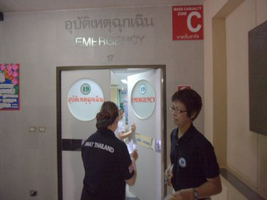 Entrance to the emergency treatment room at Patong Hospital