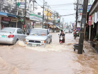 Floods in Phuket City today bring a warning of more rain to come