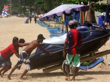 Business is good for Patong jet-ski operators but not for everyone