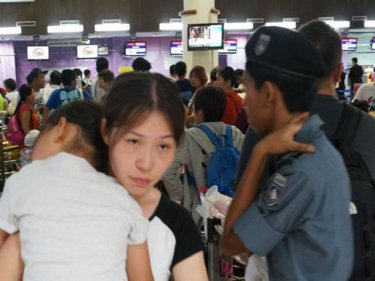 More people are flocking through Phuket's airport despite the incident