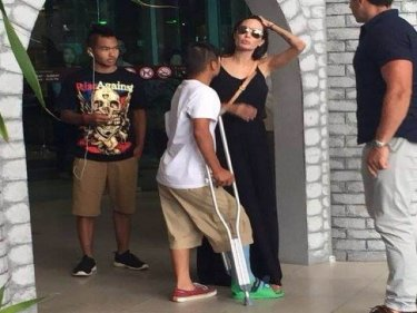 Angelina Jolie and son Pax on holiday on Phuket